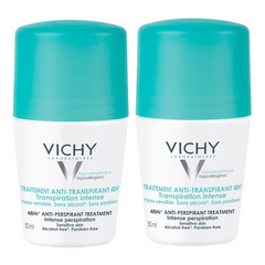 Vichy antitranspirant 48h roll-on, dvojno promocijsko pakiranje
