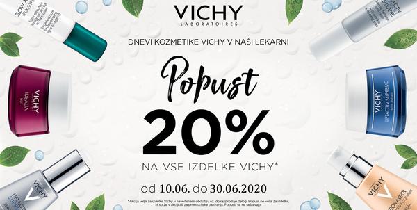 AKCIJA Vichy: 20% popust in brezplačna poštnina!