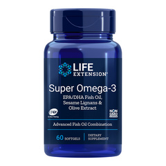 LifeExtension Super Omega 3 EPK/DHK, 60 kapsul