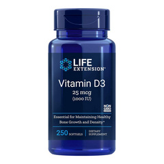 LifeExtension Vitamin D3 1000 IE, 250 kapsul