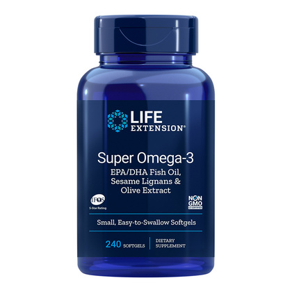 LifeExtension Super Omega 3 EPK/DHK, 240 kapsul
