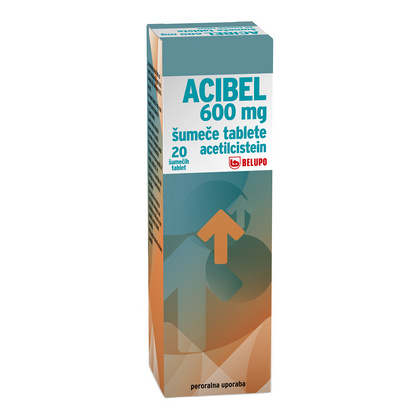 Acibel 600 mg, 20 šumečih tablet